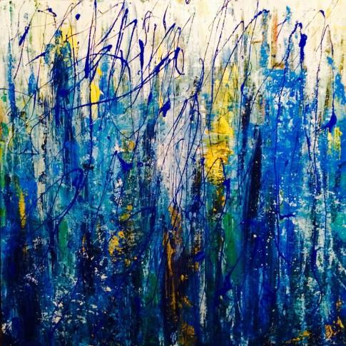 """Arte contemporanea """"Sprazzi d'azzurro"""" © Silvana Martini"""