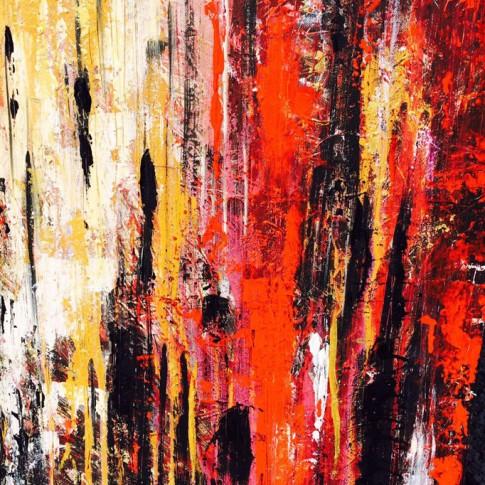 """Arte contemporanea """"Terra e fuoco"""" © Silvana Martini"""