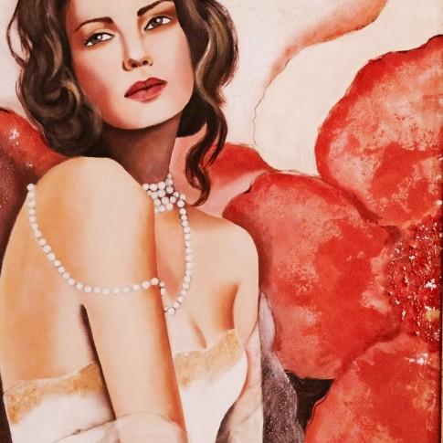 La sposa, quadro olio su tela © Silvana Martini
