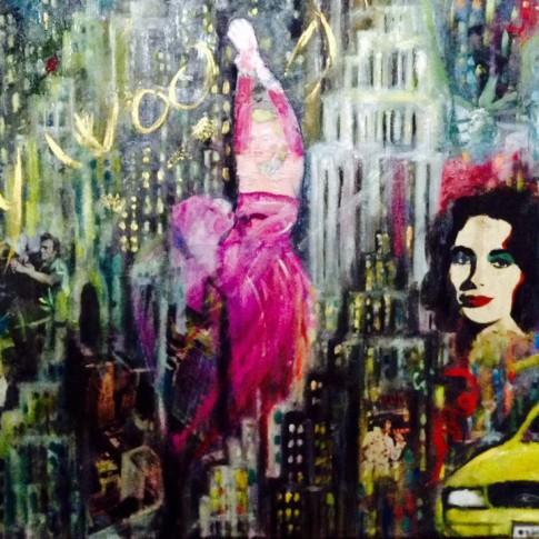 Quadro pop art, tecnica mista © Silvana Martini