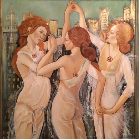 Primavera metropolitana, rivisitazione Botticelli © Silvana Martini