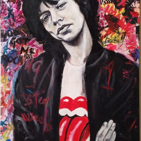 Ritratto di Mick Jagger, Rolling Stones, Silvana Martini