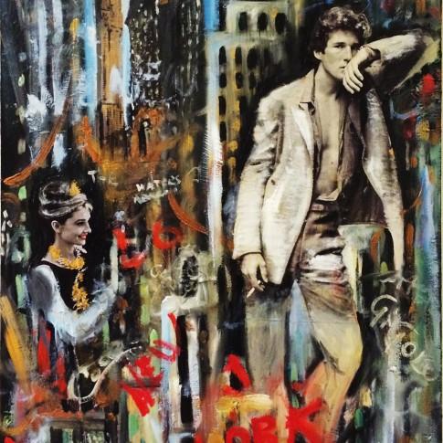 American gigolot, quadro pop art © Silvana Martini
