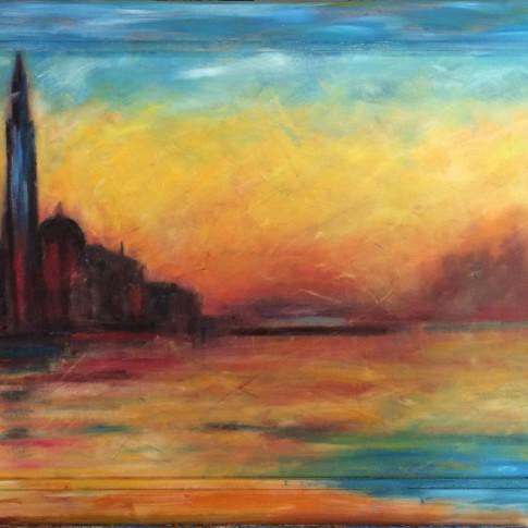 Venezia, quadro olio su tela © Silvana Martini