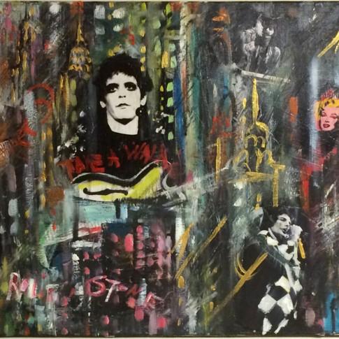 Rock top artists, quadro con tecnica mista © Silvana Martini
