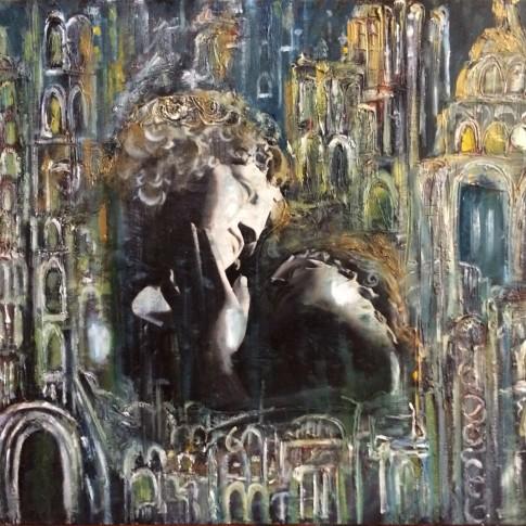 Apollo e Dafne, quadro pop art © Silvana Martini