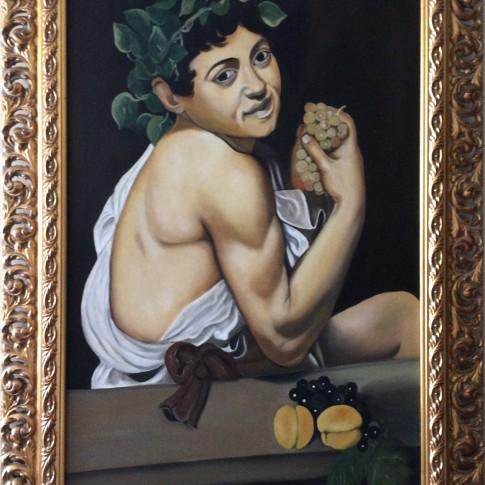 Caravaggio, riproduzione Bacchino malato © Silvana Martini