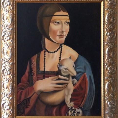 Da Vinci, riproduzione La dama con l'ermellino © Silvana Martini