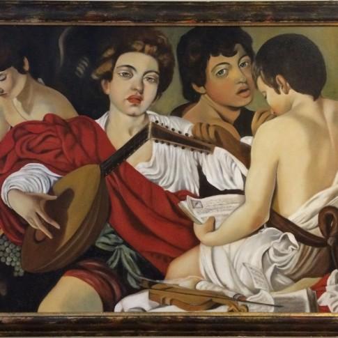 Caravaggio, riproduzione I musici © Silvana Martini
