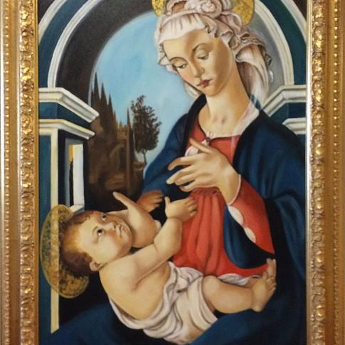 Botticelli, riproduzione Madonna con bambino © Silvana Martini