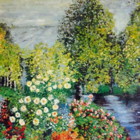 Paesaggio di Monet, riproduzione © Silvana Martini